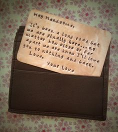 Copper Wallet Card Wallet Love Note by SimplyYoursByDesign, $18.00