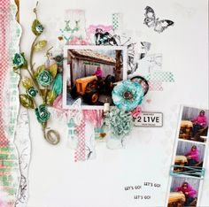 Randi`s scrappeloft Live For Yourself, Dreaming Of You, Gallery Wall, Let It Be, Frame, Challenge, Scrapbooking, Inspiration, Colour