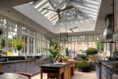 Dream kitchen/greenhouse space- Best site for Home Design, Pictures, Remodel, Decor and Ideas Conservatory Kitchen, House Design, House, Home, Greenhouse Kitchen, Modern Farmhouse, Conservatory Design, Sunroom Designs, Dark Kitchen
