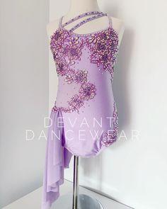 Cute Dance Costumes, Dance Costumes Lyrical, Jazz Costumes, Lyrical Dance, African Wear Dresses, Ice Skating Dresses, Asymmetrical Skirt, Purple Lace, Costume Dress