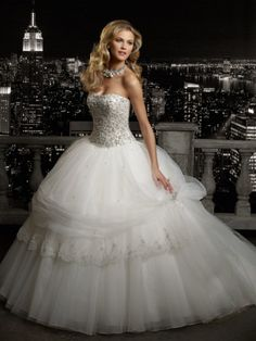 Buy Luxury Ball Gown Sweetheart Embroidery Long Beading Court Train Wedding Dress WD-9159 Princess Wedding Dresses under $239.99 only in DressesTime.