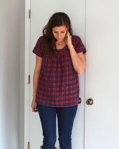 A Flannel Voila Blouse - really like this version with some width reduced of skirt bit as others are huge