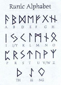 Viking Symbols of the germanic peoples norse speaking scandinavian the vikings Alphabet Code, Sign Language Alphabet, Alphabet Symbols, Norse Alphabet, Fun Fonts Alphabet, Tattoo Alphabet, Witches Alphabet, Sign Language Words, Viking Symbols