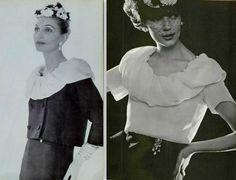 Christian Dior, Yves Saint Laurent, Women's Suits, Blouse Vintage, Suits For Women, 1940s, Vintage Ladies, Look, Ruffle Blouse