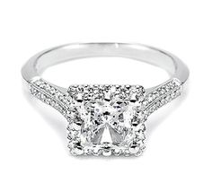 Tacori gorgeous engagement ring princess cut