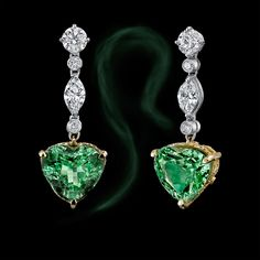 From Hubert Gem: 16.2 carats Tsavorite Garnet Earrings