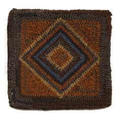 Primitive-Pillow-10-x-10-Homestead-Felted-Wool-Backing-Brown-Blue-Rust great buy on these only $28