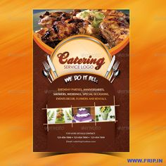 Catering service free flyer template vita poster pinterest catering menu template flyer saigontimesfo