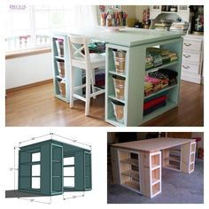 DIY modern craft table