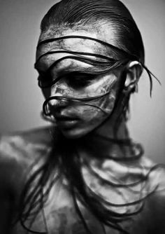 Black and White Photography People: Get Professional Looking Pictures With These Tips – Black and White Photography Black And White Portraits, Black And White Photography, Dark Beauty, Woman Face, Belle Photo, Dark Art, Body Painting, Monochrome, Portrait Photography