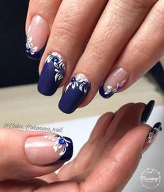 Nail Art Designs In Every Color And Style – Your Beautiful Nails Fingernail Designs, Acrylic Nail Designs, Nail Art Designs, Acrylic Nails, Gel Manicure Designs, Nails Design, Elegant Nails, Stylish Nails, Blue Nails