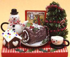 Miniature sweets kit Merry Christmas 3210 Billy handmade dollhouse kit 12 months (japan import)
