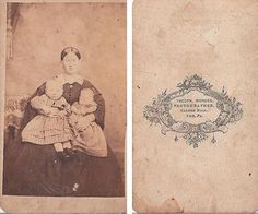 MOM WITH 2 YOUNG CHILDREN DRESSED ALIKE, CIVIL WAR ERA,YORK PA, CDV | eBay