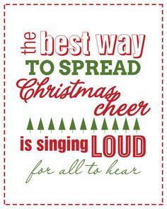Christmas Cheer Free Printable #christmas #cheer #printable