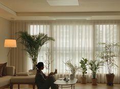 Cafe Interior, Living Room Interior, Interior Design, Living Room Korean Style, 3 Storey House Design, D House, Minimal Home, Minimalist Room, Japanese Interior