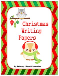 This set of 4 Christmas writing papers is FREE!  You can put them in your holiday writing center or use them for other Christmas writing projects.