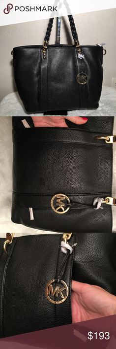 c03947a8e221 NWT authentic MK Naomi black LG tote NWT