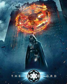 A tribute to the dark knights. Darth Vader in the Dark Knight poster. Star Wars Sith, Star Wars Meme, Star Wars Fan Art, Star Trek, Anakin Vader, Darth Vader, Star Wars Personajes, Images Star Wars, Star Wars Wallpaper