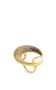 18K Yellow Gold Moon Ring by Octium