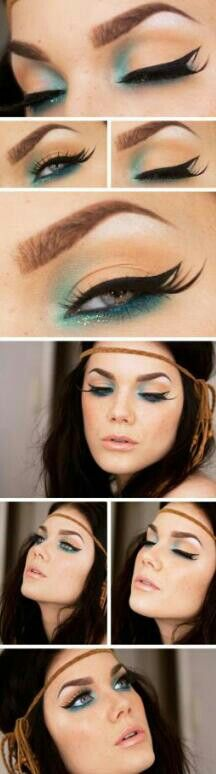 48 ideas how to make up for the end of the year holidays So girls - ready for the holiday season? After choosing party dress, how to make up for the evenings. All year long we are waiting for the end of year. Make Up Love Makeup, Makeup Inspo, Makeup Inspiration, Makeup Tips, Makeup Looks, Makeup Tutorials, Makeup Ideas, Simple Makeup, Makeup Brands