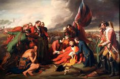 "Benjamin West ""Death of General Wolfe"" 1776 (University of Michigan Museum of Art)"