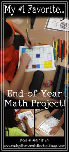 My #1 favorite end-of-year math project!!