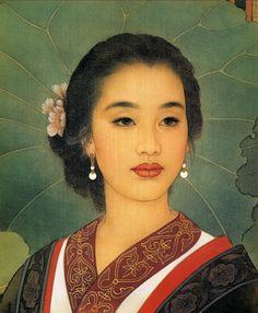 art asiatique divers - Page 5 Portrait Paintings, Portrait Art, Silk Painting, Woman Painting, Chinese Painting, Chinese Art, Female Portrait, Female Art, Painted Ladies