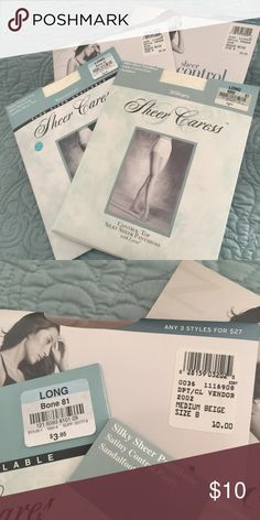 NWT 4 pair pantyhose 💁🏻 Never been opened! 2 pair ivory and 2 pair medium beige. I'm moving - HELP!! 😱 Intimates & Sleepwear