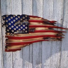 This American Flag Wood American Flag Rustic American Flag is just one of the custom, handmade pieces you'll find in our signs shops. American Flag Wall Art, American Flag Painting, American Flag Pallet, Pallet Flag, Wood Flag, Art Furniture, Rustic Wood Furniture, Wood Art, Wood Crafts