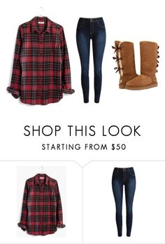 """""""Untitled #592"""" by katelyn-style ❤ liked on Polyvore featuring Madewell and UGG"""