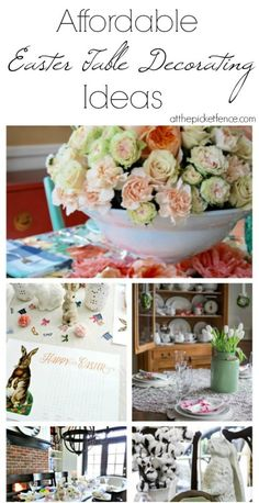 Affordable Easter Table Decorating Ideas - At The Picket Fence