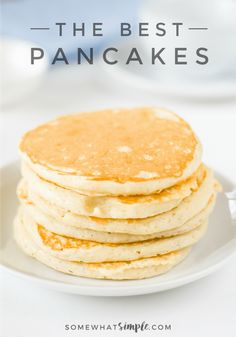 A 15-year quest to duplicate grandma's famous pancake recipe results in the discovery of the best pancakes ever! via @somewhatsimple
