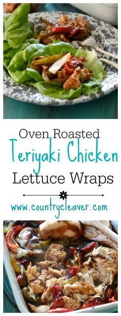 Oven Roasted Teriyaki Chicken Lettuce Wraps - A Super simple weeknight dinner!!