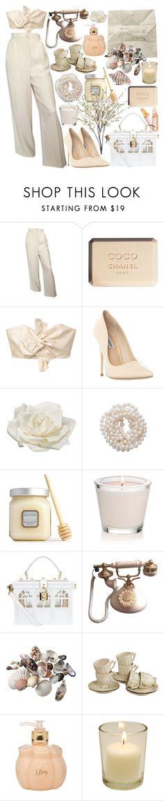 """september rose"" by tasnim-ali ❤ liked on Polyvore featuring Chanel, MANGO, Steve Madden, Allstate Floral, Briolette, Laura Mercier, Dolce&Gabbana, INC International Concepts, Lolita Lempicka and Judith Leiber"