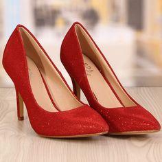 Pantofi Stiletto Rebecca Rosii Cod: 770 Pumps, Heels, Cod, Peep Toe, Fashion, Heel, Moda, Fashion Styles, Pumps Heels