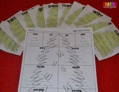 Sight Word Trees to