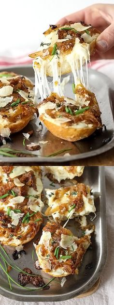 French Onion Cheese Bread foodiecrush com I Love Food, Good Food, Yummy Food, Tasty, Fingers Food, Cheese Bread, Fontina Cheese, Snacks, Appetisers