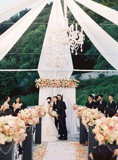 Wedding aisle ceremony