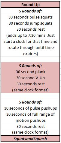 quick workout with rounds of arm, abs, and leg exercises. can do at home or on vacation!