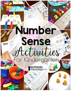 Activities for Building Number Sense to 20   Count, Math ...