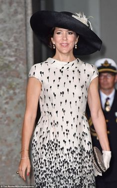 Crown Princess Mary of Denmark stuns once again as attends the christening of Prince Oscar of Sweden on Friday