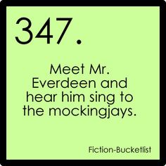 Hunger Games.    Fictional bucket list