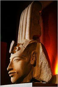 Monumental sandstone head of Akhenaten, Tutankhamun's father