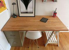 butcher block desk trestle u0026 file cabinet base