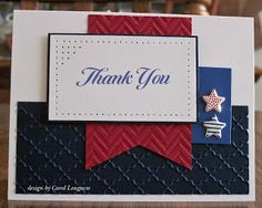 This is a great card for the troops. I like the layout and the colors she chose.