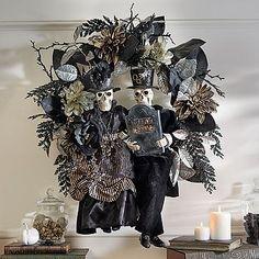 Skeleton Couple Wreath--Grandin Road $199
