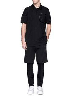 GIVENCHY Heat seal faux pocket polo shirt