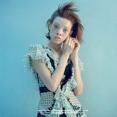 Aleece Wilson by Marton Perlaki for Document Journal Hair by Christian Eberhard. Pale Blue Eyes, Fashion Photography, Short Sleeve Dresses, Christian, Hair, Tops, Journal, Models, Lights