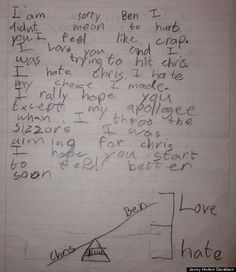 Not necessarily ESL related, but these kinds of letters written by children are what make my day LOL