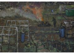 Bonfire on the Allotments, Anthony Yates RBA | Mall Galleries